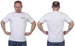 """Белая футболка с вышивкой """"Военно-морской флот России"""" - купить с доставкой"""