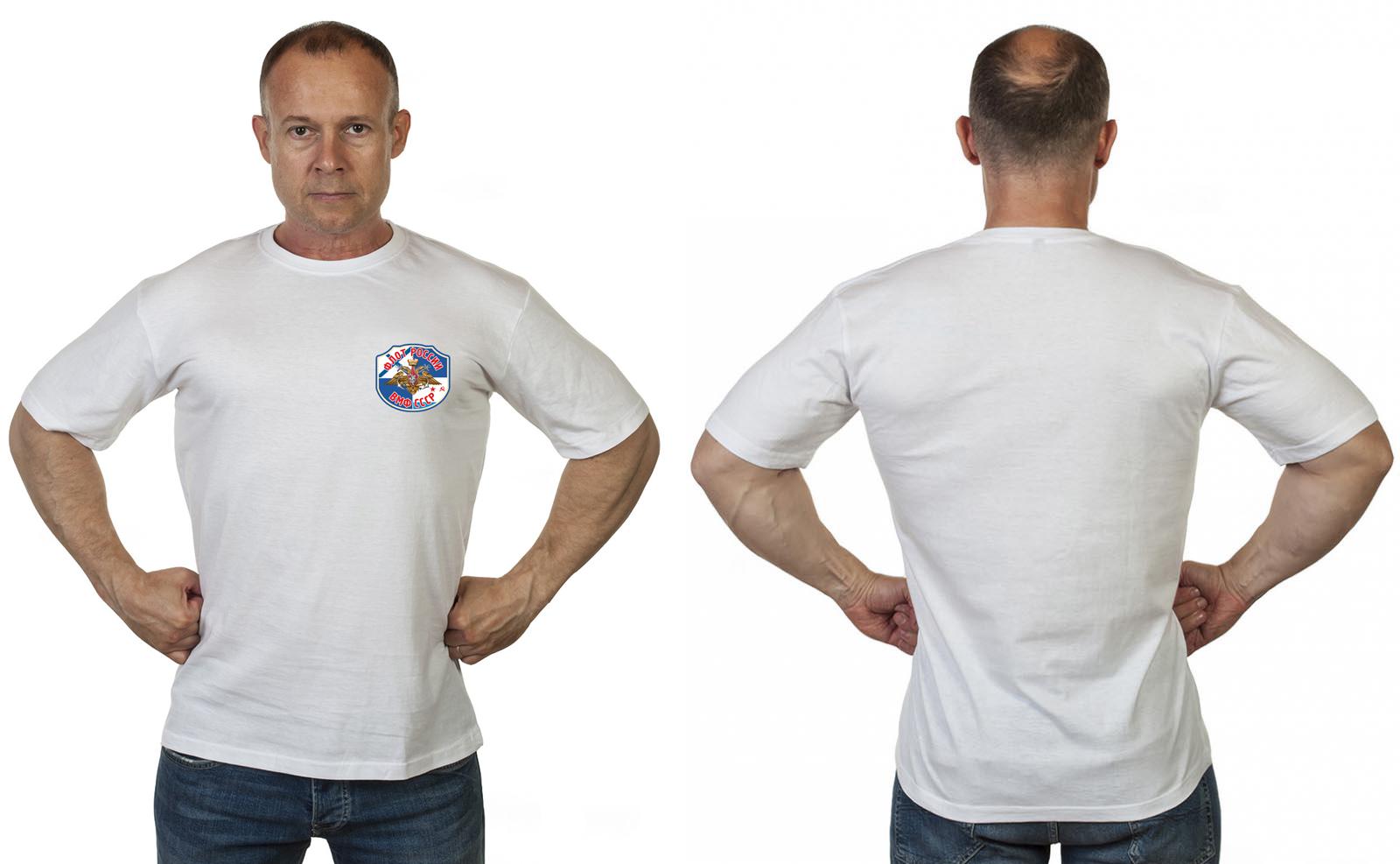 Белая футболка Военно-Морской флот