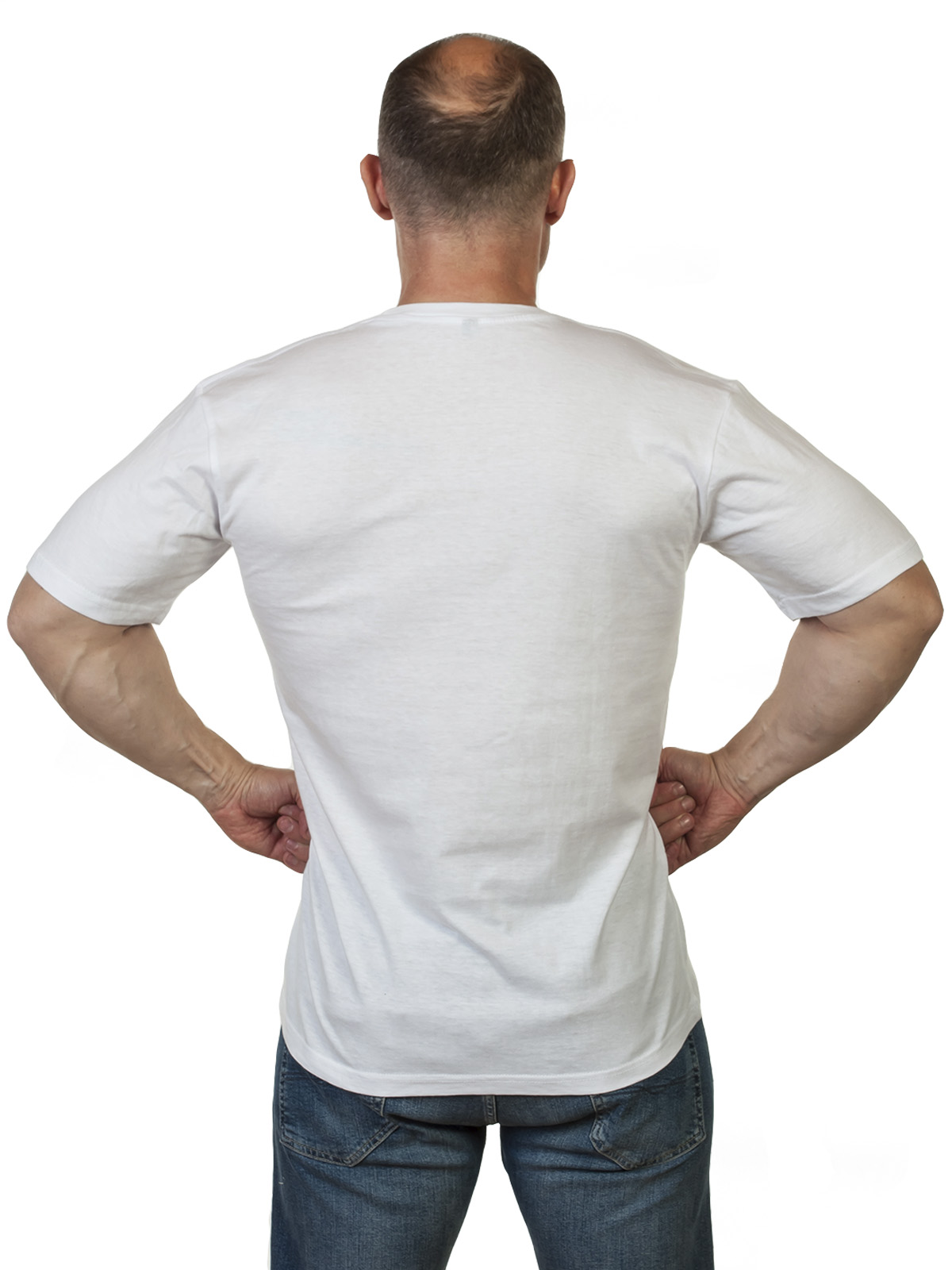 """Белая футболка """"Военно-Морской флот"""""""