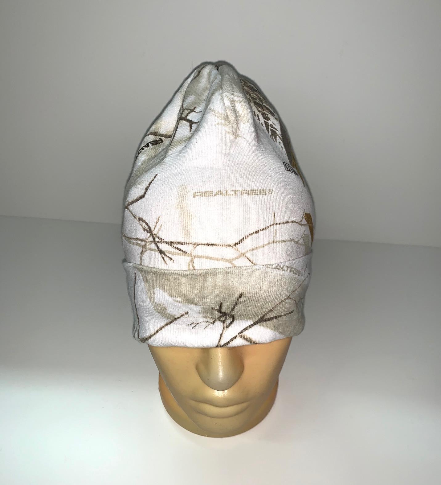 Белая камуфляжная шапка