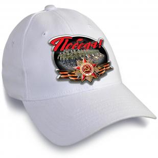 Белая кепка для участия в шествиях на 9 мая