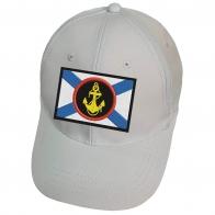 Белая кепка с нашивкой Эмблема морской пехоты
