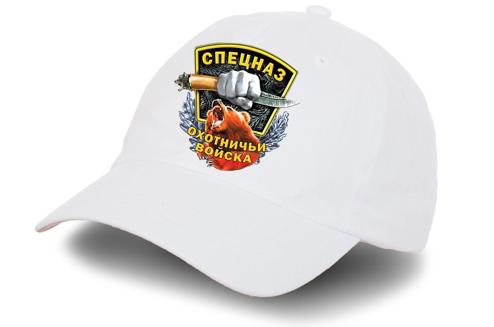 """Белая кепка """"Спецназ охотничий""""- купить по низкой цене"""