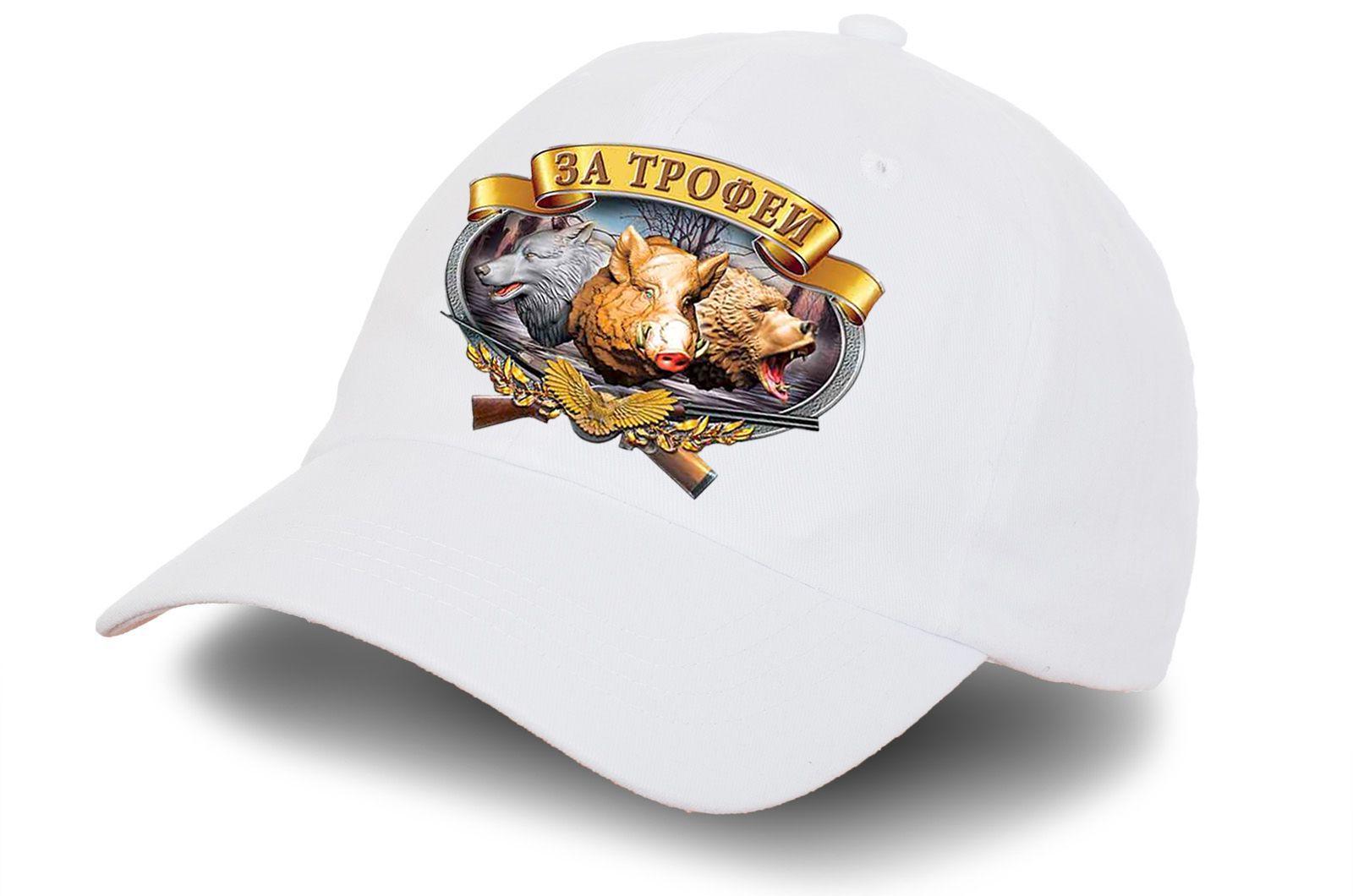 """Белая кепка """"За трофеи"""" - заказать оптом в интернет-магазине"""