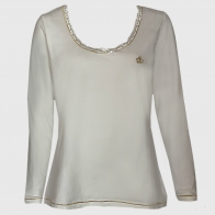 Белая женская кофта реглан M&S