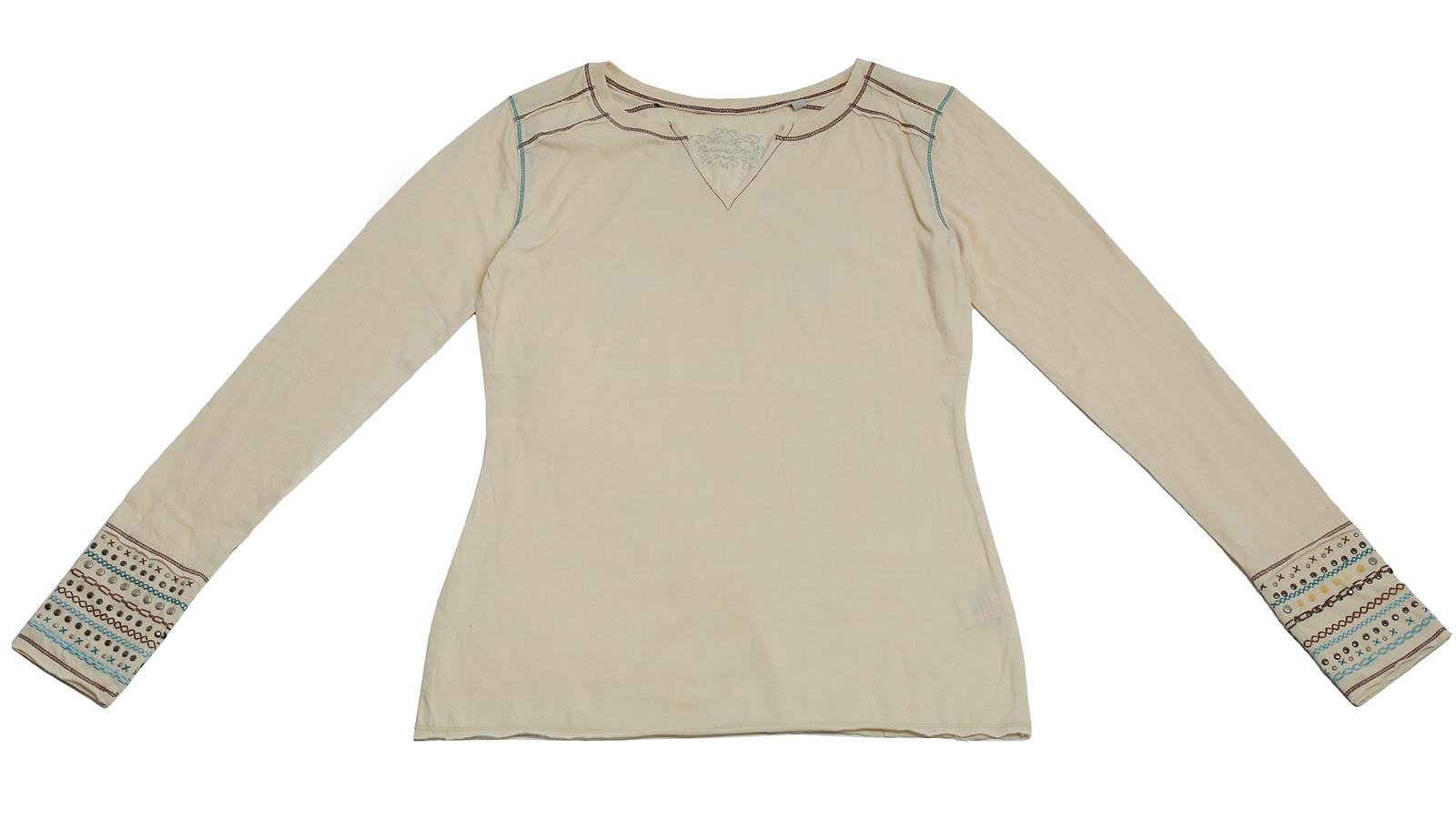 Белая кофточка Panhandle Slim с модной вышивкой. Эксклюзив для модниц!