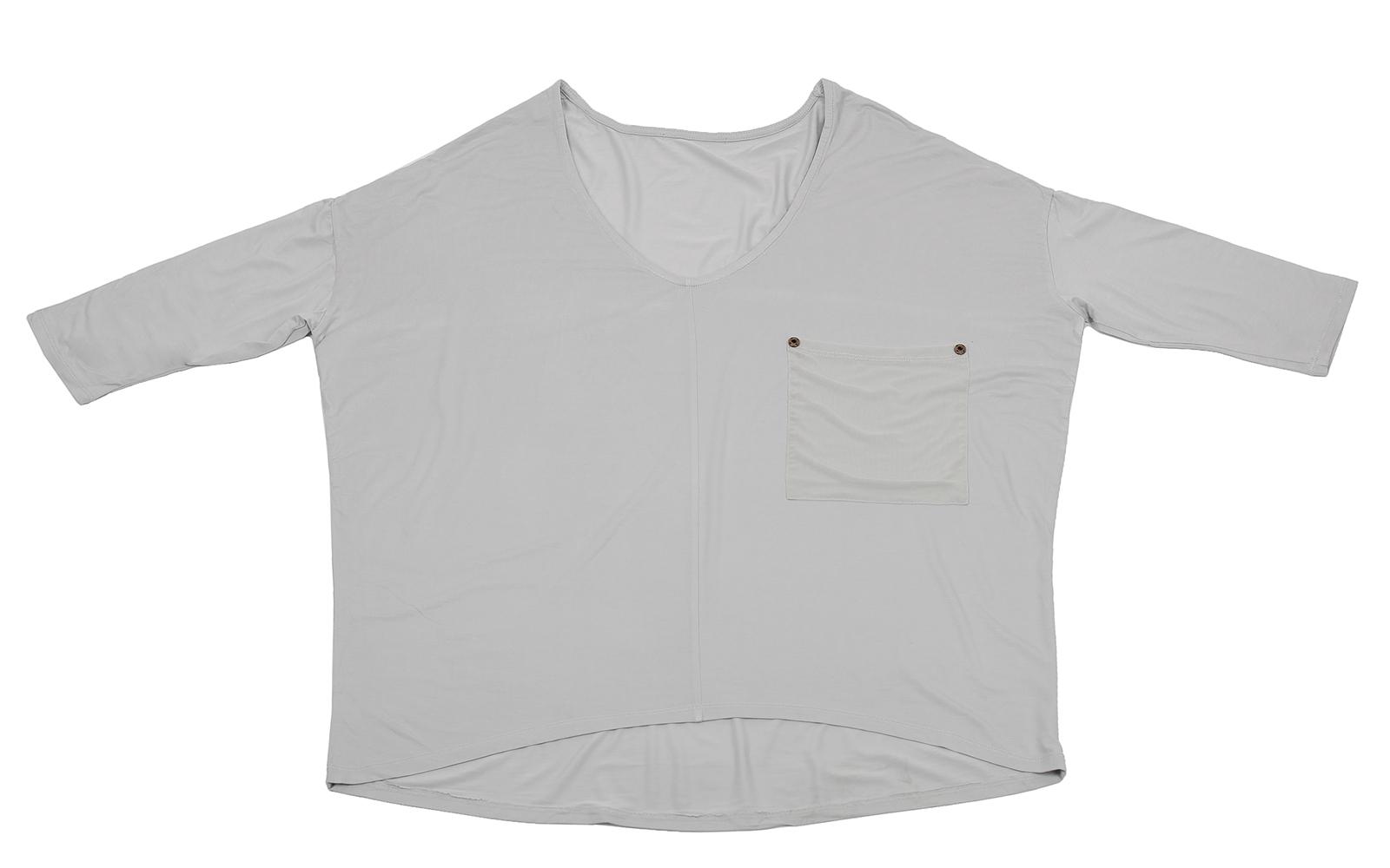 Белая кофточка с карманом - оригинальный дизайн от Karisma