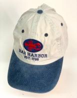 Белая летняя бейсболка Bar Harbor с синим козырьком
