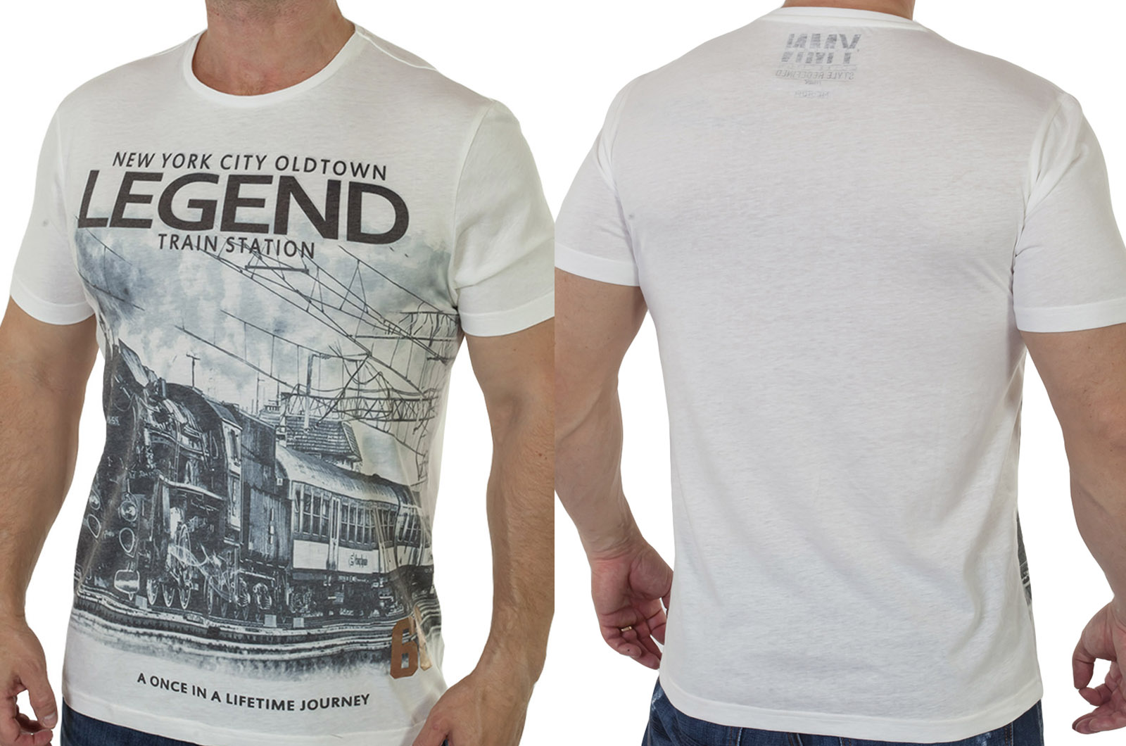 Белая мужская футболка с принтом от Young Men с доставкой