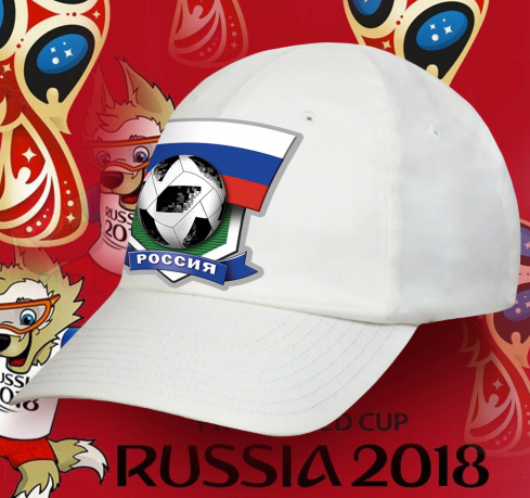Белая оригинальная бейсболка Россия