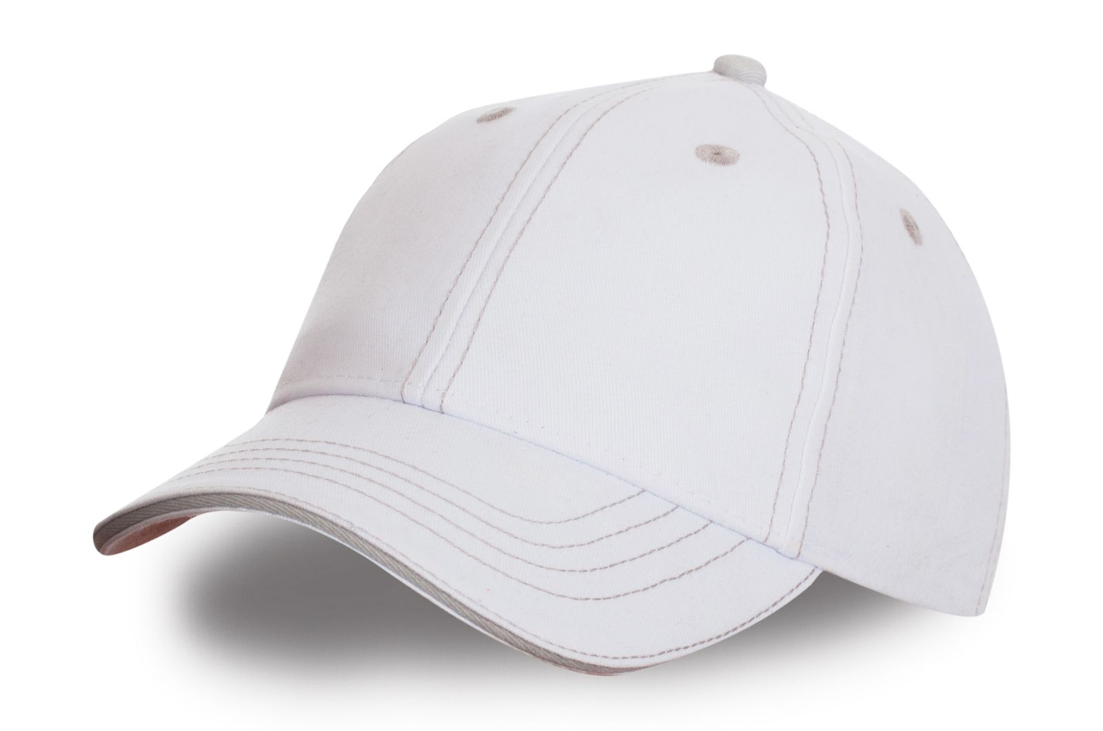 Белая спортивная бейсболка - купить в интернет-магазине с доставкой