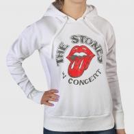 Белая женская толстовка The Rolling Stones