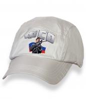 Белая топовая бейсболка с термонаклейкой ФСО