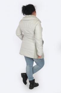 Белая удлиненная куртка Orsay (Германия) для прохладного межсезонья
