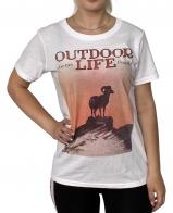 Белая женская футболка Outdoor Life