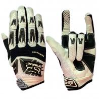 Бело-черные чопперские перчатки от Clarino