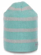 Бело-голубая шапка Neff для девушек. Нежная модель современного дизайна