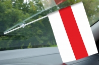 Бело-красно-белый флажок Беларуси с присоской