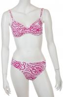 Бело-розовый купальник Olympia.