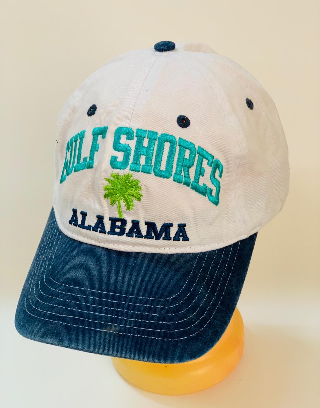 Бело-синяя летняя бейсболка Alabama