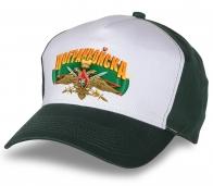 Бело-зеленая кепка с Пограничным гербом