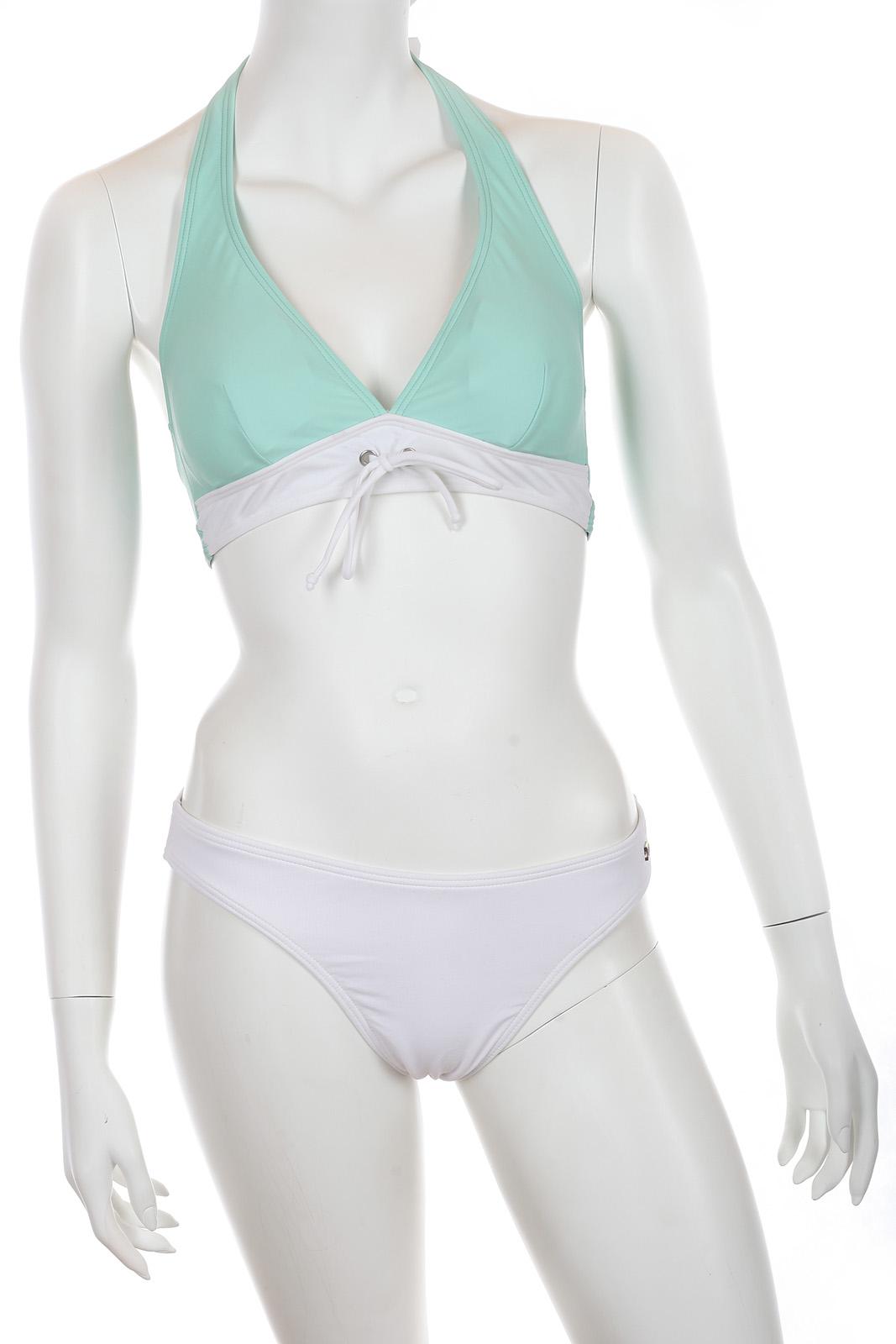 Бело-зеленый купальник Jette.