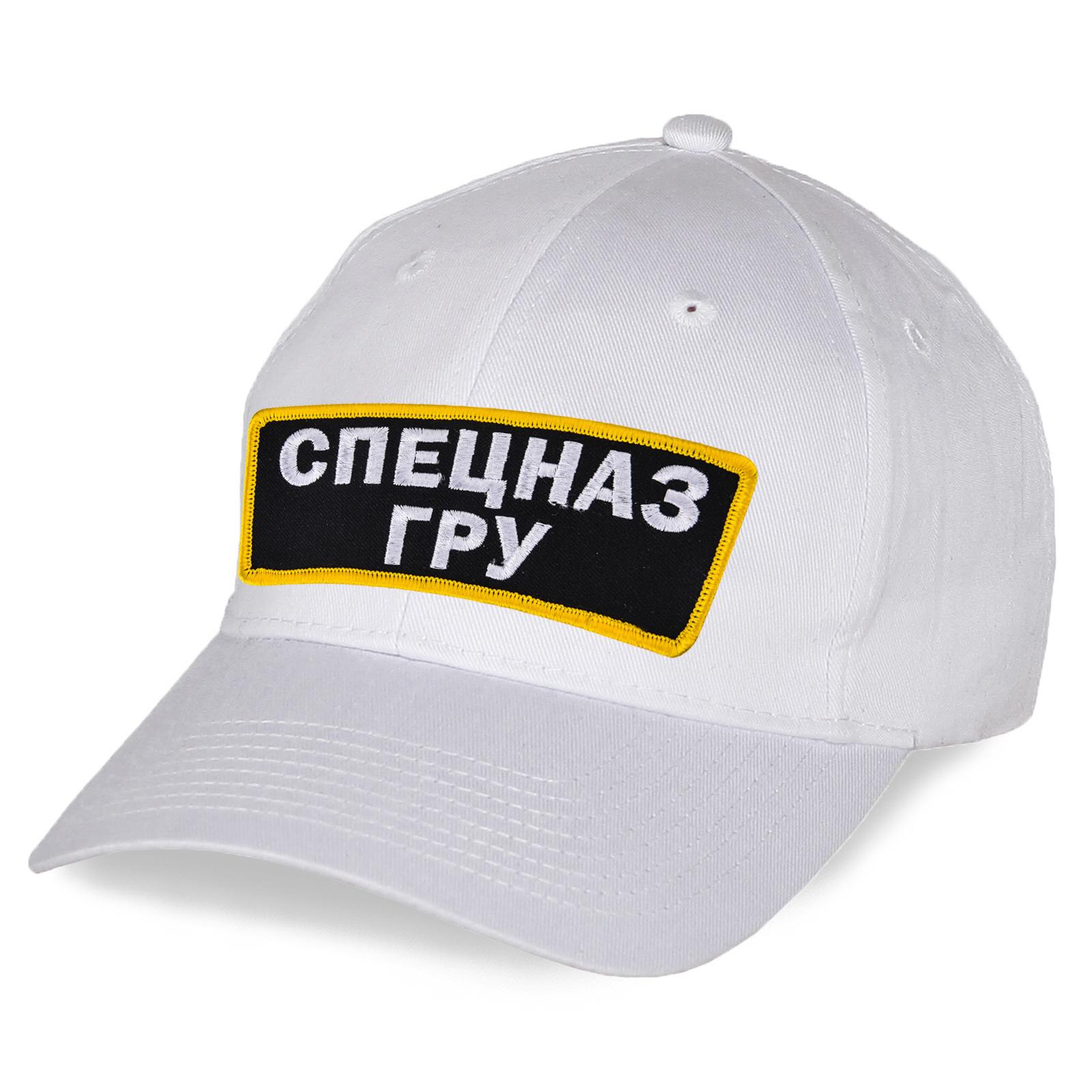 Белоснежная бейсболка Спецназ ГРУ