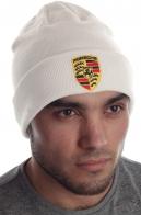 Белоснежная брендовая мужская шапка всем кто гоняет на авто