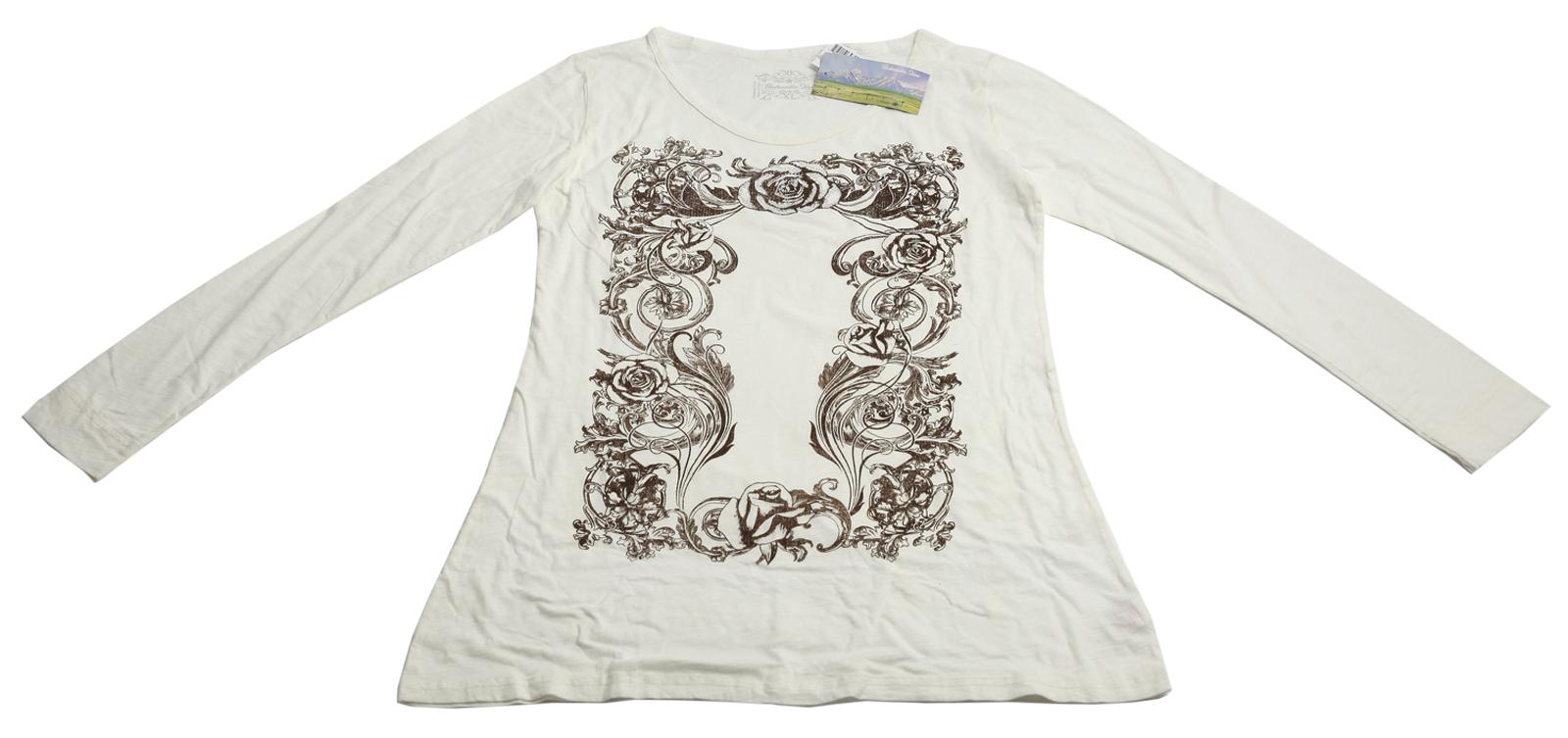 Белоснежная приталенная кофточка бренда Panhandle Slim изящная модель