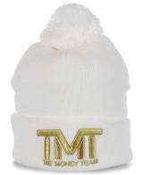 Белоснежная шапка для крутых парней от The Money Team