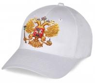 Белоснежная современная патриотическая кепка с принтом золотого Двуглавого орла послужит отменным сувениром всем болельщикам, а так же подчеркнет Вашу индивидуальность