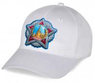 Белоснежная стильная патриотическая бейсболка с принтом Ордена Победы от дизайнеров Военпро по низкой цене. Уникальный головной убор, какой Вы нигде не найдете!