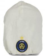 Белоснежная удлиненная флисовая мужская шапка