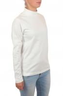 Белоснежный женский реглан с высоким горлом от бренда GU.