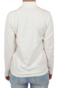 Белоснежный женский реглан с высоким горлом. Сдержанный английский стиль в исполнении бренда GU. Эффект естественности подчеркивает натуральный хлопок
