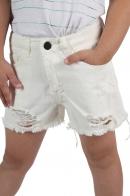 Белые детские шорты для девочек