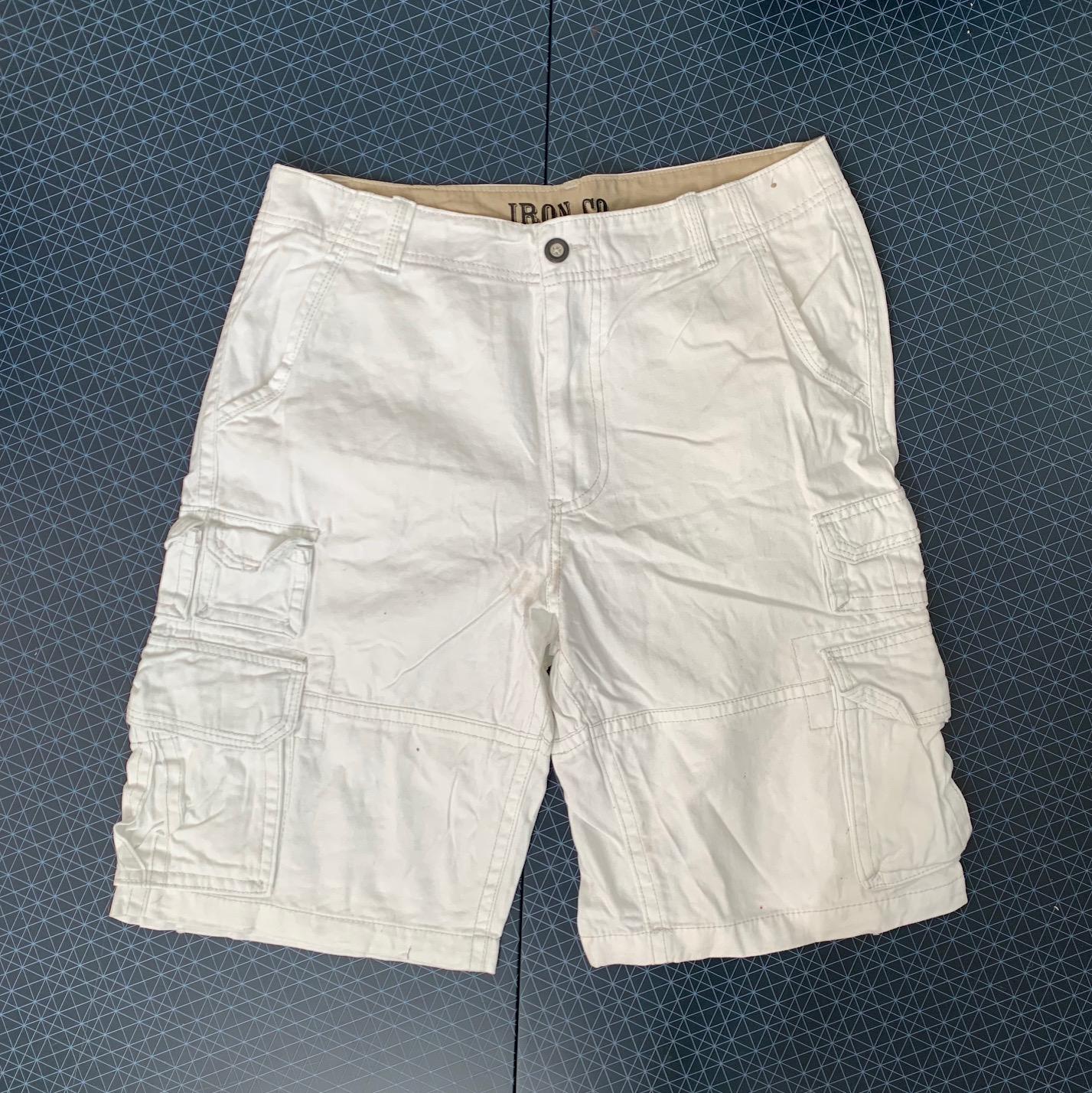 Белые мужские шорты от IRON CO