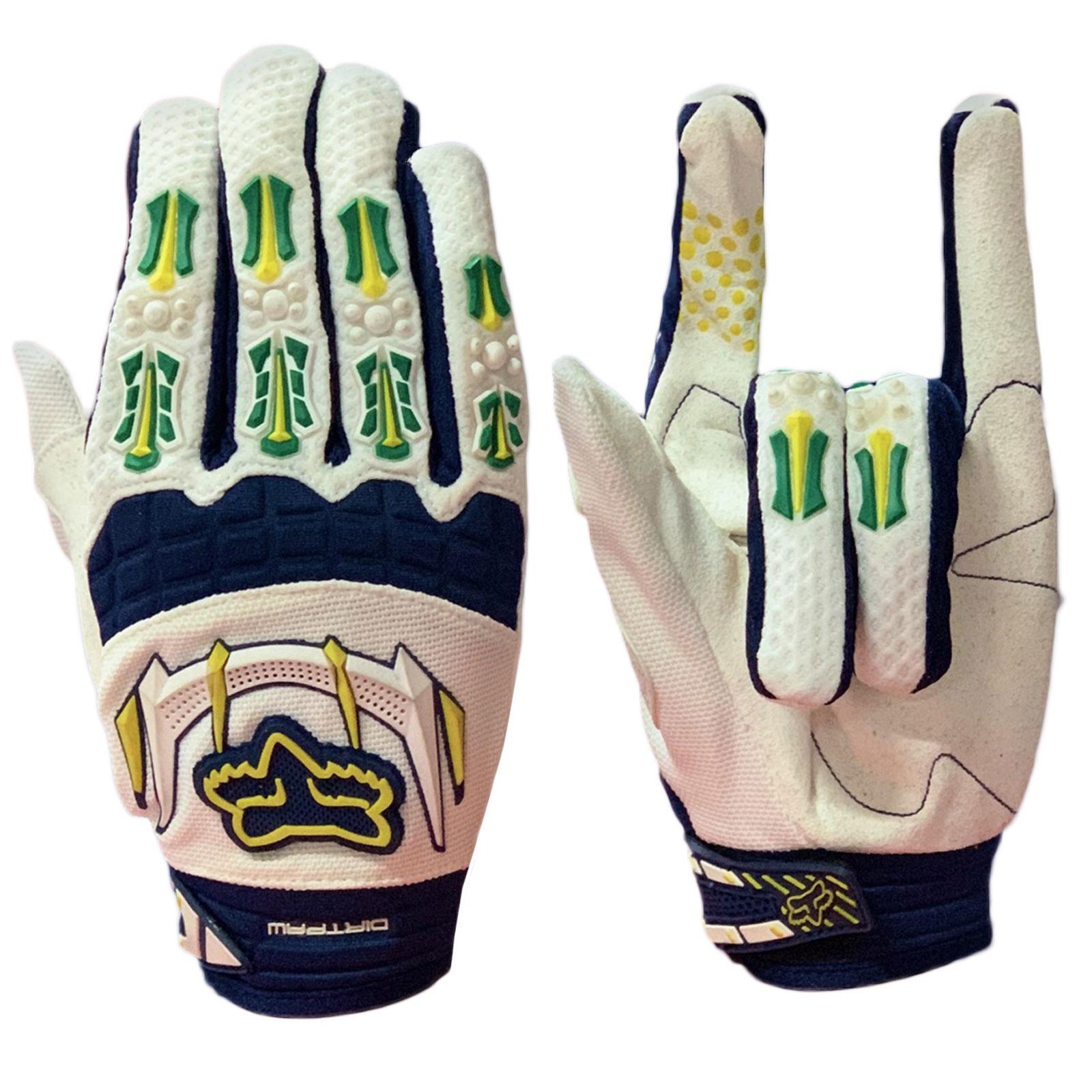 Белые эксклюзивные перчатки от Dirtpaw с контрастным принтом