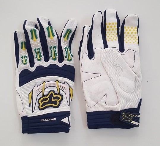 Белые перчатки от Dirtpaw с контрастным принтом