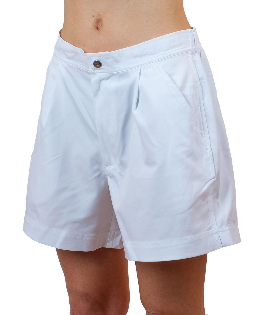 Белые шортики для девушки - вид спереди