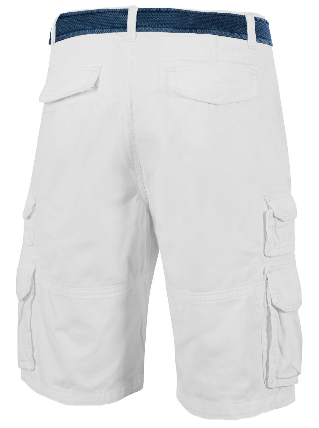 Заказать белые шорты с ремнем оптом