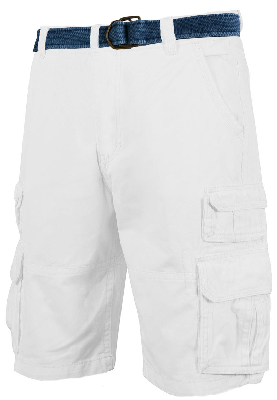 Белые шорты с ремнем - купить в интернет-магазине