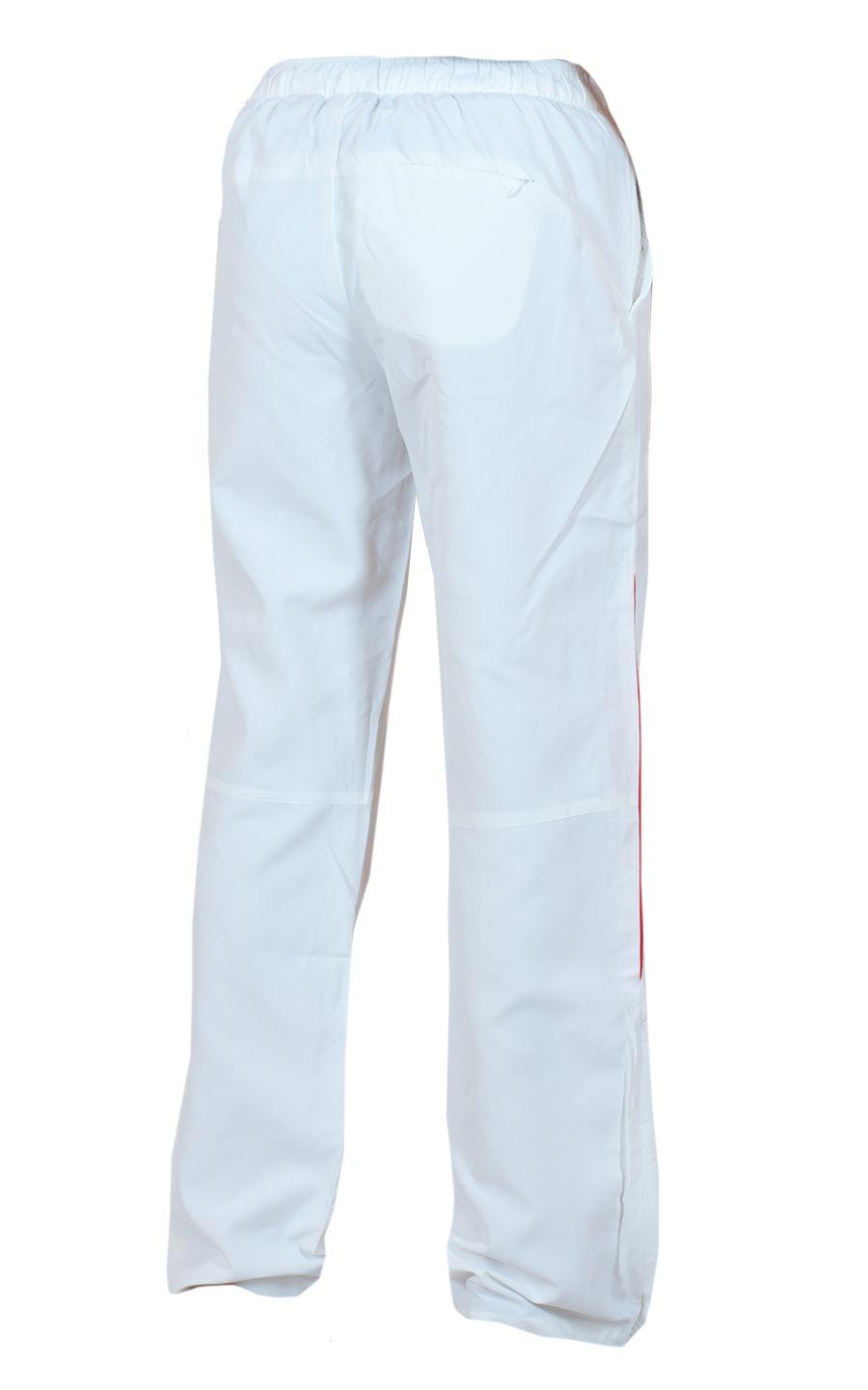 Белые спортивные брючки для девушек - вид сзади