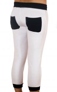 Белые спортивные брюки капри Coco Limon - вид сзади