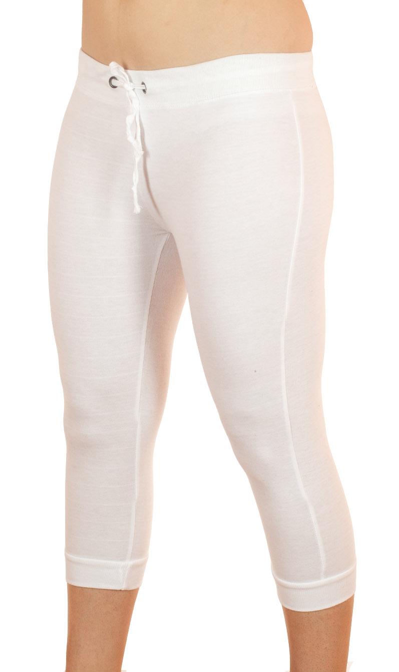 Белые спортивные капри от Coco Limon - вид спереди
