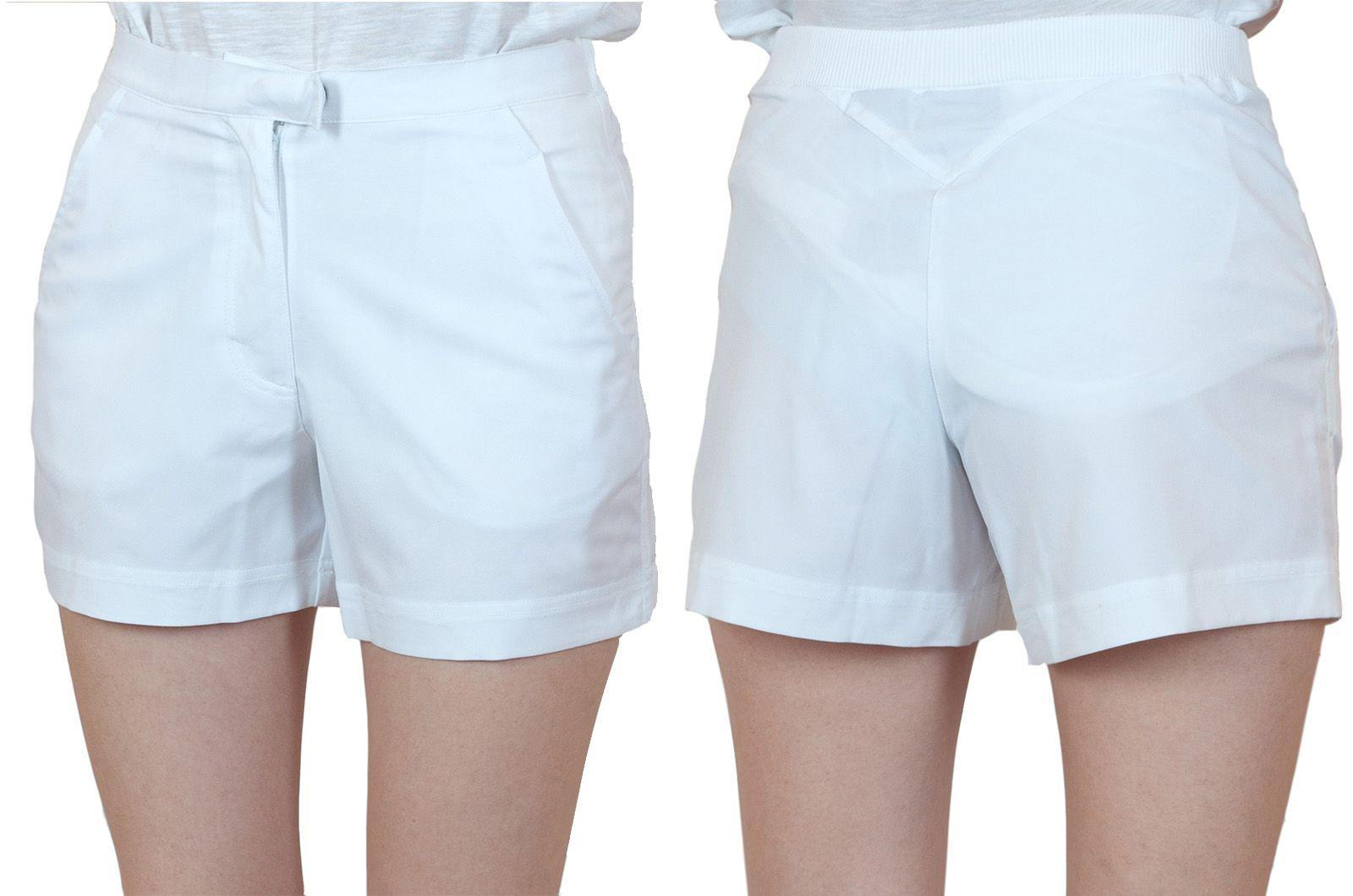 Заказать белые спортивные шортики для женщин