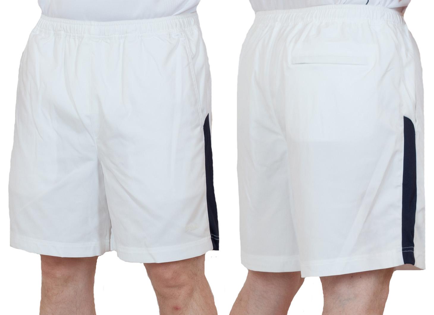 Белые теннисные шорты - общий вид