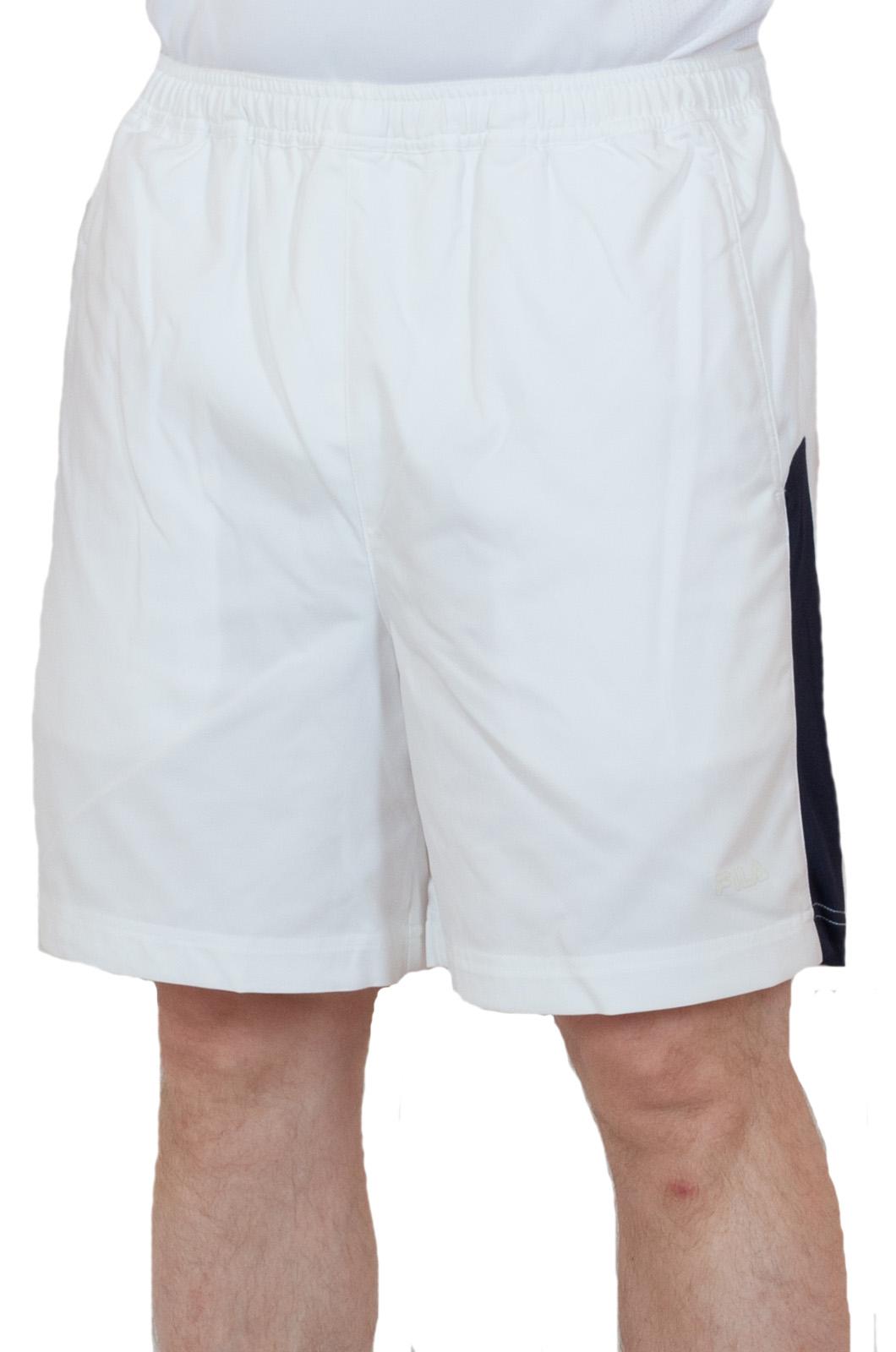 Белые теннисные шорты - вид спереди
