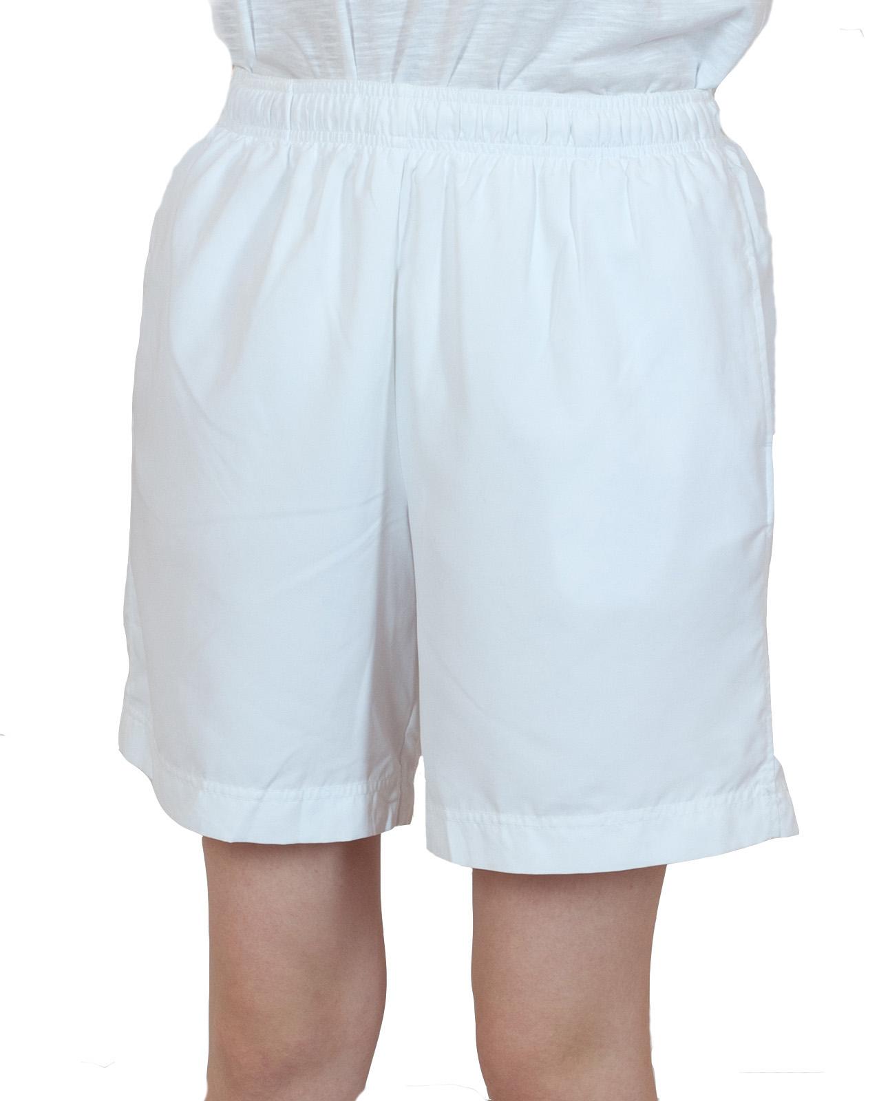 Белые женские шорты спортивного стиля