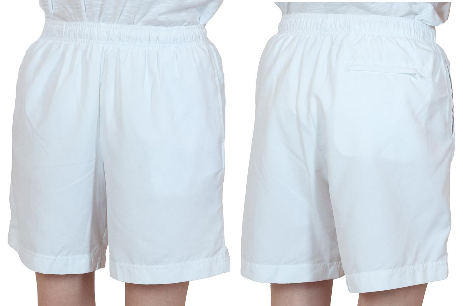 Заказать белые женские шорты спортивного стиля
